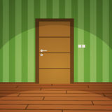 Room With Door - Green Royalty Free Stock Images