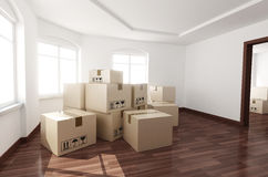 Room empty and box Royalty Free Stock Photo