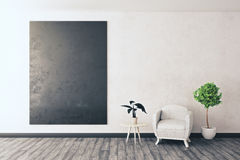 Room with empty chalkboard Stock Image