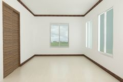 Room. Empty room with glass in house Stock Image
