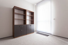 Room with empty shelf Royalty Free Stock Images