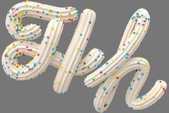 Room en suikergoeddoopvont vector illustratie