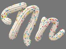 Room en suikergoeddoopvont stock illustratie