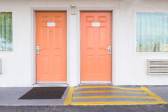 Room entrance with ramp for disabled person wheelchair Royalty Free Stock Images