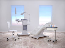 Room with equipment in the clinic of dermatology Royalty Free Stock Photography