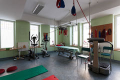 Room with equipment for physical training Royalty Free Stock Image