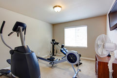 Room with exercise equipment Royalty Free Stock Photo