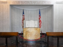 Room of the fallen soldiers of the American Military Cemetery in Nettuno royalty free stock images