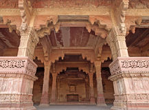 Room in the Fatehpur Sikri, India. Nice carving sandstone in the room of Fatehpur Sikri, Agra, Uttar Pradesh, India Stock Photos