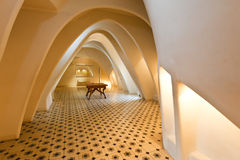 Room featuring illuminated parabolic arches Royalty Free Stock Photo