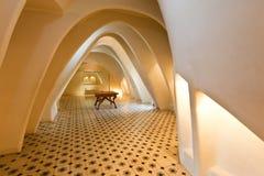 Room featuring illuminated parabolic arches Royalty Free Stock Photo