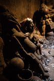 Room of fetishes in Lobi village. Fetish used to protect Lobi village, Burkina faso Stock Images