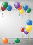 Room filled with balloons Royalty Free Stock Image