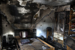 Room after fire Stock Photography