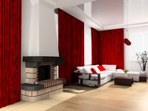 Room with a fireplace Royalty Free Stock Image