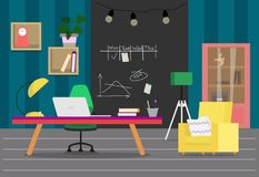 Room_flat 2 royaltyfri illustrationer