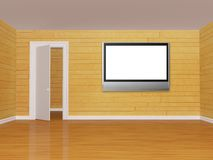 Room with flat tv Stock Photography