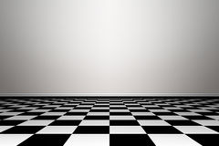 Room with floor chess style. Stock Images