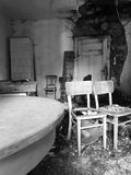 Forgotten. Room in forgotten house in Slovakia Royalty Free Stock Images
