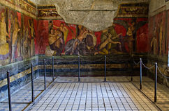 Room of the frescoes in Villa dei Misteri, Pompeii Royalty Free Stock Images
