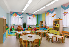 Room for games. And activities in the kindergarten Royalty Free Stock Photography
