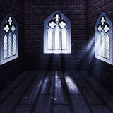 Room with Gothic Window Stock Image