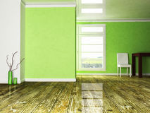 A room in the green colors Royalty Free Stock Images