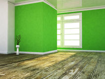 A room in the green colors Stock Photography