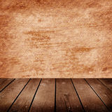 Room with grunge cement wall Royalty Free Stock Images