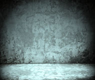 Room with grunge concrete wall, cement floor. Empty room with grunge concrete wall and cement floor royalty free stock images
