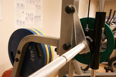 Room with gym equipment in the sport club, sport club gym , Health and recreation room.  Stock Photography