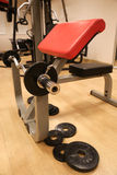 Room with gym equipment in the sport club, sport club gym , Health and recreation room Stock Images
