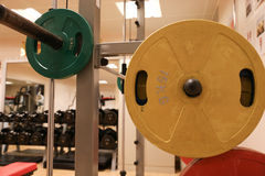 Room with gym equipment in the sport club, sport club gym , Health and recreation room Stock Photo