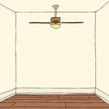 Room with Hardwood Floors vector illustration