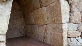 Room with hieroglyph, in Hattusha, capital city of the Hittite Empire. The first known peace treaty in history is The Kadesh Agreement between The Hittites and Royalty Free Stock Images