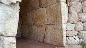 Room with hieroglyph, in Hattusha, capital city of the Hittite Empire. The first known peace treaty in history is The Kadesh Agreement between The Hittites and Stock Photo