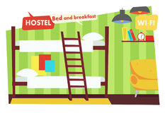 Room in Hostel. Bed and breakfast Stock Photography