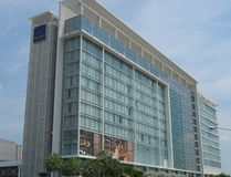 The 380-room hotel Novotel Bangkok Impact Stock Photography