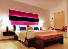 Room in a hotel warm color Royalty Free Stock Photo