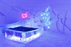 room in ice hotel Royalty Free Stock Photos