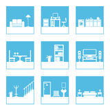 Room icons Royalty Free Stock Photos