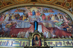 Room of the Immaculate Conception. The Room of the Immaculate Conception, one of the rooms designed by Raphael in the Vatican Museum in Rome royalty free stock photos