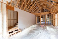Free Room In Home, Under Contruction, With Spray Foam Stock Photos - 159208623