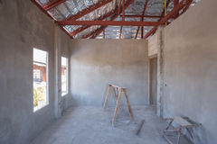 Room of inside house under construction Stock Photo
