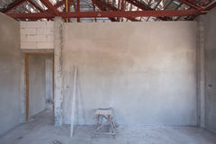 Room of inside house under construction Royalty Free Stock Image