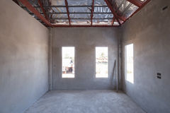 Room of inside house under construction Royalty Free Stock Photo