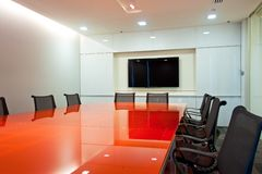 Room interior. Empty business conference room interior Royalty Free Stock Photo