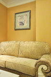 Room Interior And Cloth Sofa Stock Images
