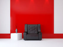 A room interior with a armchair Stock Photography