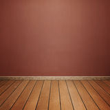 Room interior with concrete wall and brown wood floor Royalty Free Stock Photo